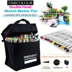 27.81$  Buy here - http://ali3m2.shopchina.info/1/go.php?t=32613067829 - Finecolour 160 PC Color Copic Double Headed Sketch Marker Pen Landscape Set Painting Sketch Art Copic Marker Pens Stationery  #buyonline