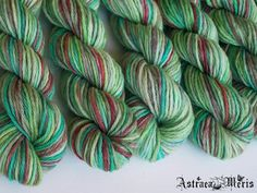 Wintergreen Mini Skein / Fingering Weight / Merino by AstraeaMeris, $2.50