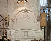 Painted Cottage Shabby White Twin Bed BD03. $395.00, via Etsy.