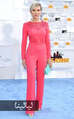 Pink jumpsuit, love this color. Scarlet Johnson 2015.