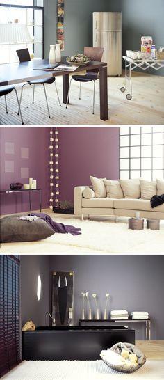 Varme farver i boligen - nederste vægfarve (Dyrup R17 Klippe) til endevæggen i køkken (v. emhætte)