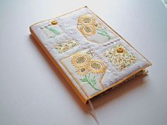 Notebook Sketchbook Journal Diary Cover A5 by CiesseTextiles