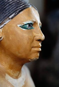 Statue of a Seated ScribeHe wears a wig with a central parting. Ancient Egypt Activities, Ancient Egypt Art, Ancient Aliens, Ancient Artifacts, Ancient History, Ancient Greece, Egyptian Pharaohs, Egyptian Art, Egyptian Costume