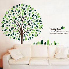 Removable Large Vinyl Wall Decor Stickers Art Decal Sticker Living Room Tree   eBay