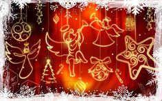 Glowing Christmas Decorations Holiday Wallpaper