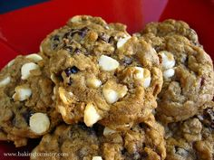The Baking Barrister: White Chocolate Cherry Oatmeal Cookies