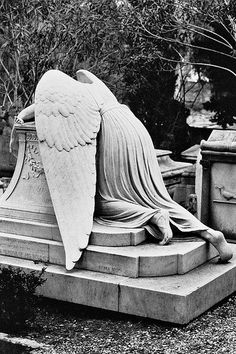 The romantics cemetery in Rome, where Keats and Shelley are buried and a few of lord Byron's ashes remain. The weeping angel.