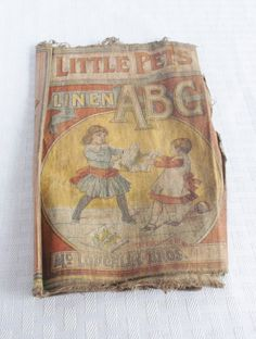 Victorian Children's Book Little Pets Linen by MyVintageHatShop, $15.00