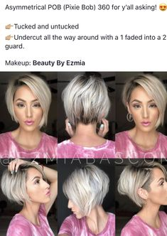 Pixie Bob Hairstyles, Inverted Bob Hairstyles, Thin Hair Haircuts, Dope Hairstyles, Pretty Hairstyles, Growing Out Short Hair Styles, Short Hair Styles Easy, Short Thin Hair, Short Hair Cuts