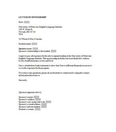 Sponsorship Letter Template   Proposals    Proposal