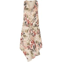 Haute Hippie Floral-print silk mini dress (315 CAD) ❤ liked on Polyvore featuring dresses, pastel pink, pink dress, loose dress, silk floral dress, pastel floral dress and short floral dresses