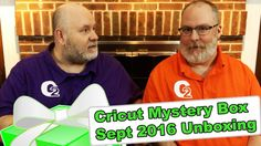 """Cricut Mystery Box - September 2016 Unboxing - http://www.craftsbytwo.com/cricut-mystery-box-september-2016-unboxing/  Surprise! It's the September Mystery Box from Cricut! We were surprised too, we just found out hours before the release! Join us to see what is in it this month!  Visit our blog by clicking for easy shopping links, the best coupon code, and a list and gallery of the contents if you don't want to watch the video!  Check out """"Cricut Mystery Box - Septembe"""
