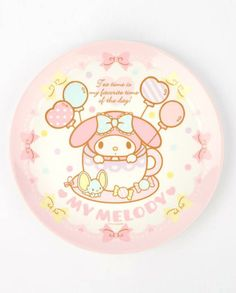 For display or serving up birthday treats and cakes - this #MyMelody plate is a keeper!