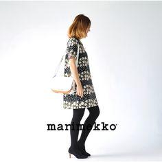 【楽天市場】marimekko マリメッコ KUKKASADE KIRSIKKATUULI/クッカサデ ラウンドカラーワンピース・5234139964(全2色)(S・M)【2013秋冬】:Crouka(クローカ)