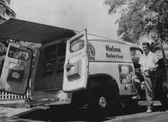 L.A. 1950s Helms Bakery Truck~T~ I loved the Helms Truck. When they pulled out those long drawers it was like magic. Yum!