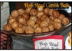 just Sweet and Simple: Harry Potter Hogs Head Cornish Balls