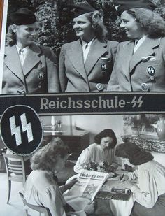 SS Helferinnen | ss helferinnen batch German People, German Women, German Girls, Nazi Propaganda, Ww2 Pictures, Military Pictures, Ww2 Posters, Germany Ww2, Socialism