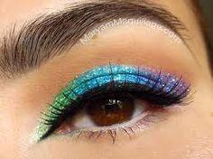 rainbow neon glitter !!