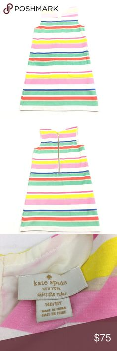 New Wit Tags Kate Spade Kids Cape Stripe Dress Kate Spade Kids Cape Stripe Dress Size 10 Girls Zipper on Back New With Tags See Pictures for Measurements kate spade Dresses Casual