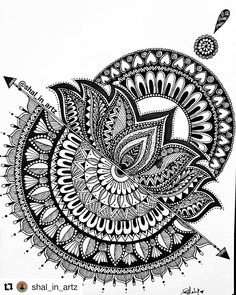 "3,482 curtidas, 21 comentários - Mandalas & Zentangles (@zenart.features) no Instagram: ""WINNER 4 of flower mandala prompt is @shal_in_artz . .  Thank you to EVERYONE who participated.…"" Mandala Art Lesson, Mandala Artwork, Mandala Sketch, Mandala Drawing, Lotus Flower Art, Flower Mandala, Butterfly Art, Art Drawings Sketches Simple, Pencil Art Drawings"