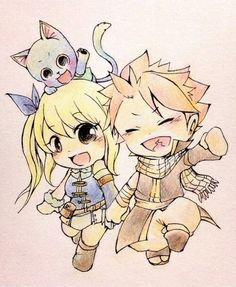 Chibi Nalu and Happy