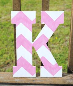 Rustic Custom Distressed Pink Chevron Home Decor 13 Decorative Pottery Barn Style Letters Wedding Gift Bridesmaid