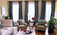 Beautiful Blue And Brown Curtains | Curtain | Pinterest | Striped ...