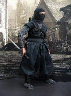 Japanese Martial Art Ninja in black
