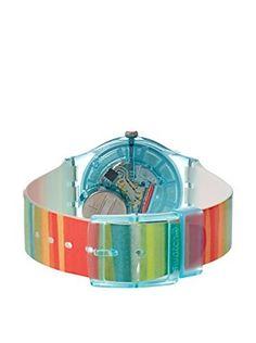 Swatch Women's GS124 Color The Sky Multi-Color Plastic Watch