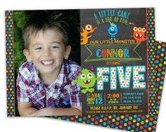 Get the great colorful photo monster birthday invitations you've been looking for, for your little boys monster birthday party! This chalk