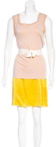 Lanvin Layered Colorblock Dress