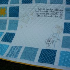 Twinkle Twinkle baby quilt pattern