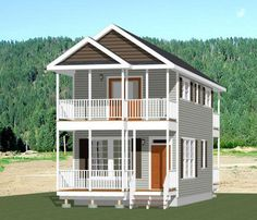 16x30 Tiny House 2 Bedroom 873 SQ FT PDF Floor Plan Model 12B