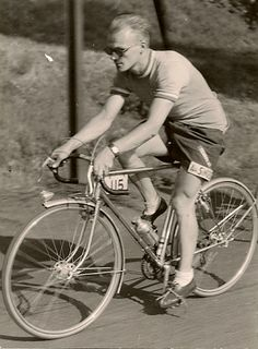 Ernest Csuka of Cycles Alex Singer  ~ 1950