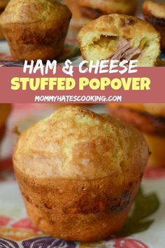 Ham & Cheese Stuffed Popovers - Mommy Hates Cooking #GlutenFree