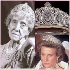 The Cartier Indian tiara, made in the early century belonged to the Princess Marie-Louise of Schleswig-Holstein. It was bequeathed to the Duke of Gloucester and now belongs to the present Duchess of Gloucester. One heck of a tiara! Royal Crown Jewels, Royal Crowns, Royal Tiaras, Royal Jewelry, Tiaras And Crowns, Royal Diamond, Diamond Tiara, Royal Monarchy, English Royal Family