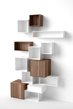 Modular shelf / contemporary / MDF / for professional use Cubit-Regal Weiß-Walnuss Mymito GmbH Cubit Etagere Cube, Home Furniture, Furniture Design, Rustic Furniture, Etagere Design, Regal Design, Sky Design, Modern Bookcase, Modular Shelving
