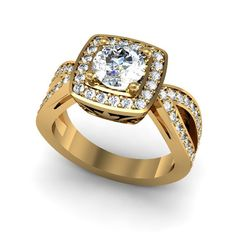 14k Yellow Diamond Engagement Ring with by EternityCollection, $2350.00