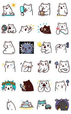 we bare bears notebook label Cute Little Drawings, Cute Kawaii Drawings, Kawaii Art, Anime Stickers, Cute Stickers, Notebook Labels, Kitten Tattoo, Emoji Characters, Planner Stickers