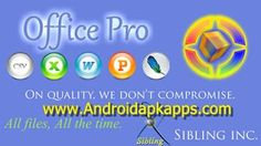 Download Office Pro v4.8 Full Patched Apk Terbaru | Androidapkapps - Office Pro is an application for the Android platform, It makes it easy yet professional to Create, View and Edit MS Word documents ( .doc, .docx, .rtf,.xml .txt )