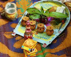 gaach kouto - an example here, for brides holding the kouto, see sindoor board Bengali Wedding, Mehndi Decor, Wedding Decorations, Table Decorations, Angel Art, Indian Art, Wedding Designs, Paint Colors, Wedding Planner