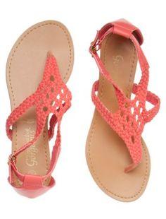 Coral Crochet Sandals