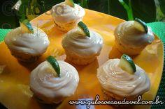Receita de Cupcake de Limão com Chocolate Amargo