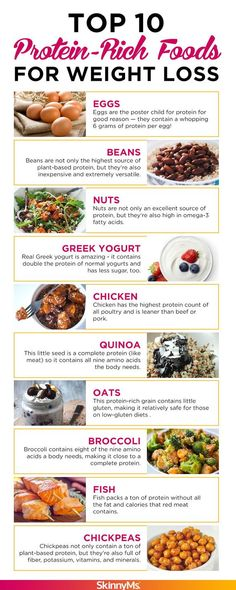Top 10 Protein-Rich Foods for Weight Loss – Skinny Ms. Top 10 Protein-Rich Foods for Weight Loss Amping up your body's intake of protein is one of the easiest (and simplest) ways to lose weight. Protein Rich Foods, High Protein Recipes, Protein Diets, Lean Protein, Food With High Protein, Vegan Recipes, What Foods Have Protein, High Protein Vegan Snacks, Protein Smoothies