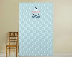 Personalized Nautical Baby Shower Photo Backdrop