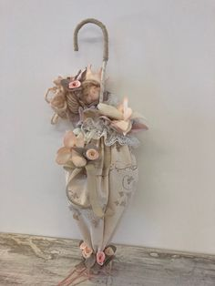 Tiny doll Fairy little doll Angel Miniature fairy doll Textile Angel Small doll Cute mini doll Pocke Doll Crafts, Diy Doll, Shabby Chic Pumpkins, Ballerina Ornaments, Rustic Flower Girls, Fabric Brooch, Free To Use Images, Foam Roses, Flower Girl Basket