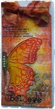 Live The Dream : Jennie Atkinson Five Distress Inks that wonderful butterfly!