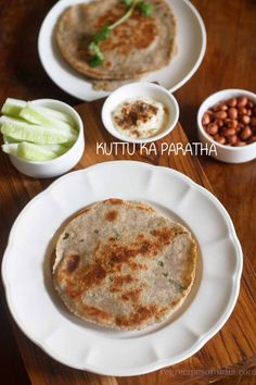 kuttu ka paratha or kuttu ki roti with step by step photos. kuttu ka paratha is made during navratri fasting or other religious fast. Indian Breads, Buckwheat Recipes, Roti Recipe, Paratha Recipes, Vegan, Cooking, Ethnic Recipes, Food, Kitchen