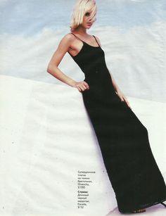 Cosmopolitan Russia July-August 1998 ''All in openwork'' Photographer: Andy Tan Model: Robin Queen Stylist: Bastiaan Van Schaik Hair & Makeup: Allard Honigh