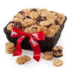 Authentic Mrs. Fields Basket of Nibblers & Brownie Bites, ,